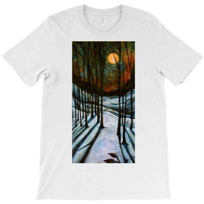 Solstice Moon T-shirt Designed By Blackstars