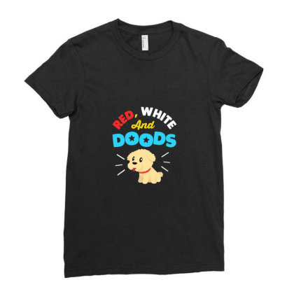 Doodle Dog Gifts For 4th July Independence Day Pet Premium T Shirt Ladies Fitted T-shirt Designed By Blackstone
