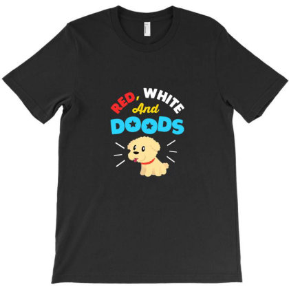 Doodle Dog Gifts For 4th July Independence Day Pet Premium T Shirt T-shirt Designed By Blackstone