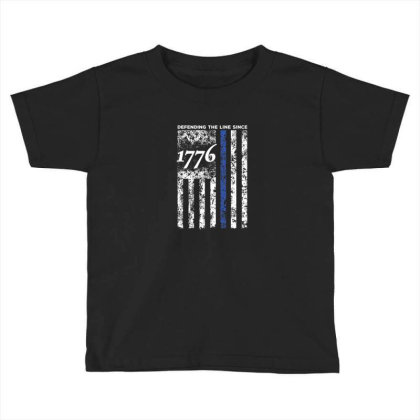 Thin Blue Line 1776 Independence Day Shirt Toddler T-shirt Designed By Blackstone