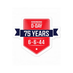 D-day 75th Anniversary June 6th, 1944 Wwii Memorial Sticker Designed By Diogo Calheiros