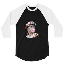 snake bubblegum 3/4 Sleeve Shirt | Artistshot