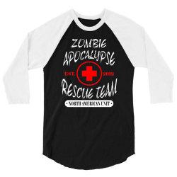 zombie apocalypse rescue team 3/4 Sleeve Shirt   Artistshot