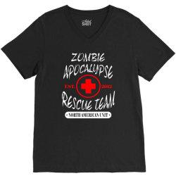 zombie apocalypse rescue team V-Neck Tee   Artistshot