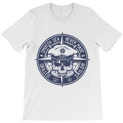 Sea Sailor Boat Yacht Skull T-shirt Designed By Designisfun