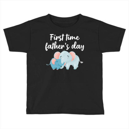 First Time Father's Day For Dark Toddler T-shirt Designed By Sengul