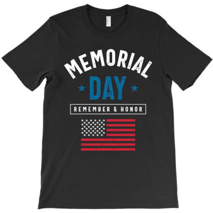 Memorial Day Remember & Honor Gift T-shirt Designed By Cidolopez