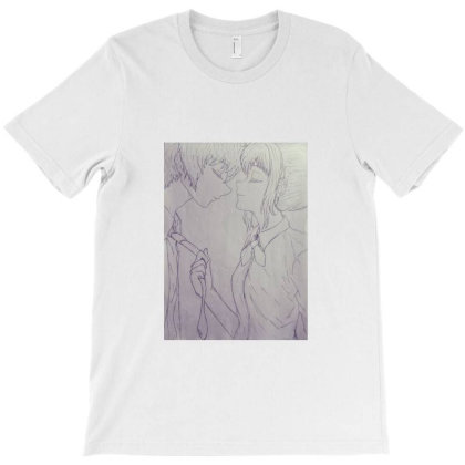 Anime Couple T-shirt Designed By Dc47