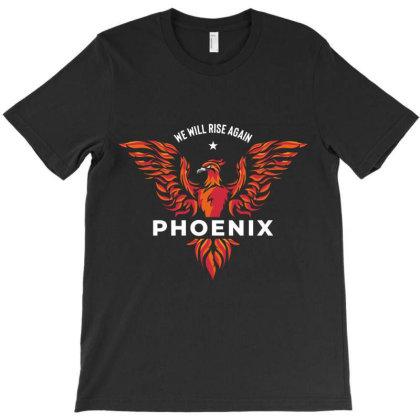 Phoenix Bird Born Reborn T-shirt Designed By Designisfun