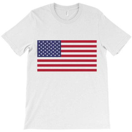Usa American Flag T-shirt Designed By Designisfun
