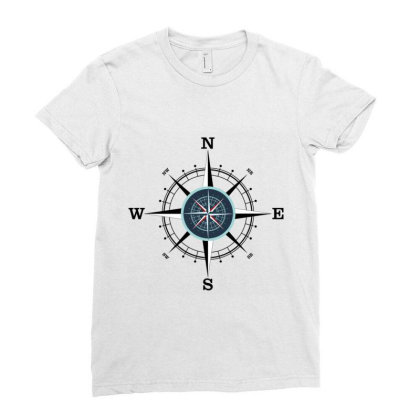 Compass Ladies Fitted T-shirt Designed By Evindart