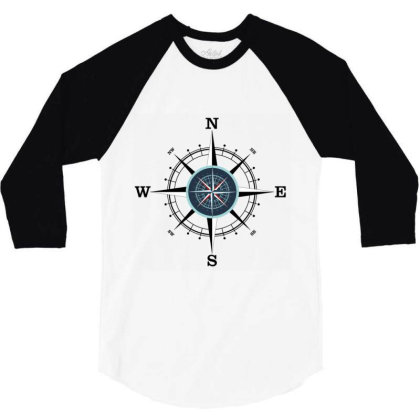 Compass 3/4 Sleeve Shirt Designed By Evindart