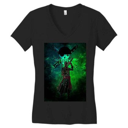 Sword Master Awakening Women's V-neck T-shirt Designed By Ryukrabit
