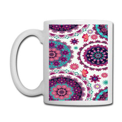 Circular Floral Print Coffee Mug Designed By @sanjana11
