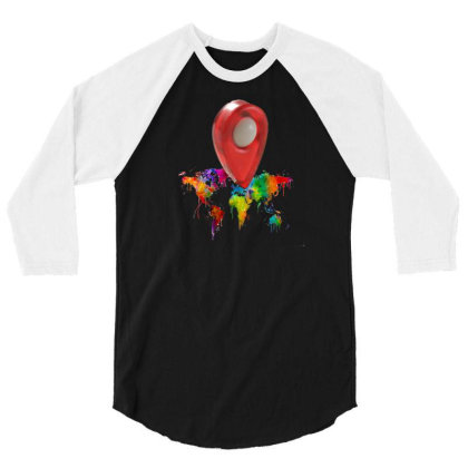 Location 3/4 Sleeve Shirt Designed By Pskarts