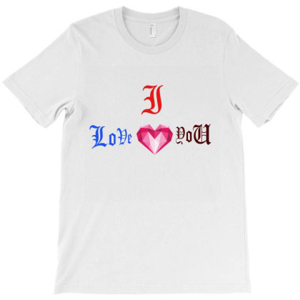 I Love You T-shirt Designed By Babai1