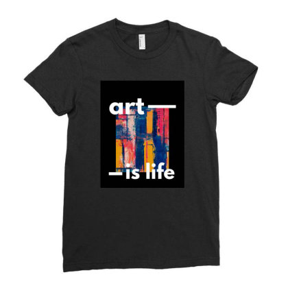 Art Ladies Fitted T-shirt Designed By Gursheen