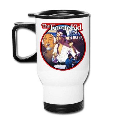 Karate Kid Vintage Image Travel Mug Designed By Crivello