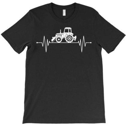 Farm Farmer Heartbeat Tracktor T-shirt Designed By Ismi
