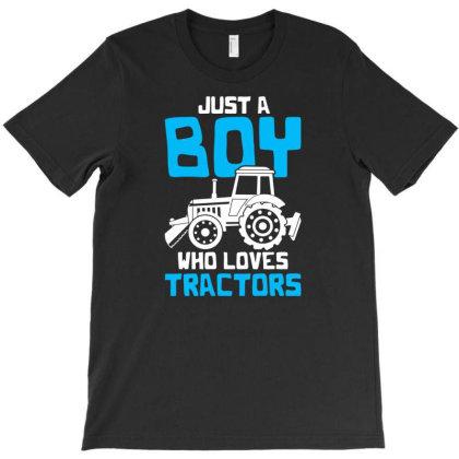 Farm Farmer Tractor T-shirt Designed By Ismi