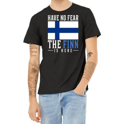 Finn Finland Heather T-shirt Designed By Ismi