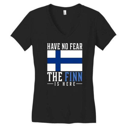 Finn Finland Women's V-neck T-shirt Designed By Ismi
