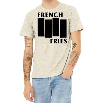 French Fries  Black Heather T-shirt Designed By Ismi