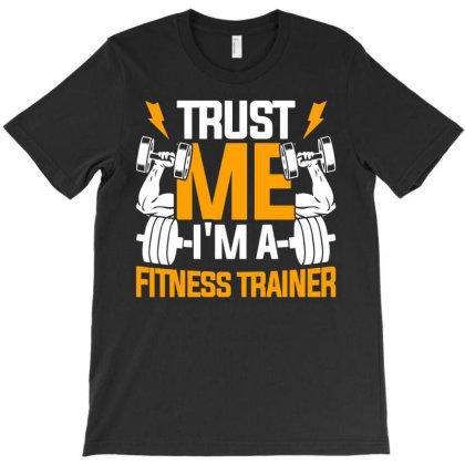 Fitness Trainer Gym Workout T-shirt Designed By Ismi