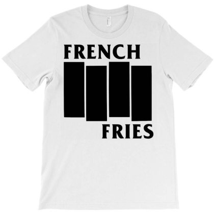 French Fries  Black T-shirt Designed By Ismi