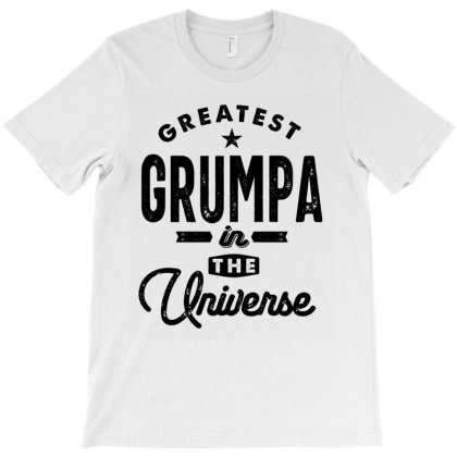 Mens Greatest Grumpa In The Universe Grandpa Gift T-shirt Designed By Cidolopez