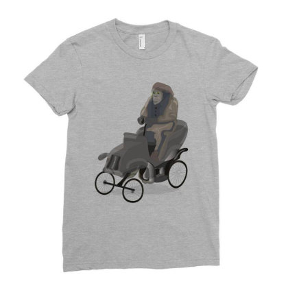 Chimpanzee Ladies Fitted T-shirt Designed By Rococodesigns