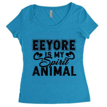 Eeyore Is My Spirit Animal Women's Triblend Scoop T-shirt Designed By Hoainv
