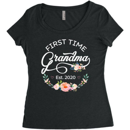 First Time Grandma Women's Triblend Scoop T-shirt Designed By Hoainv