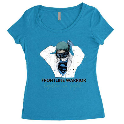Fontline Warrior Together We Fight Women's Triblend Scoop T-shirt Designed By Hoainv