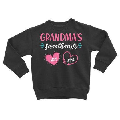 Grandmas Sweethearts Toddler Sweatshirt Designed By Hoainv