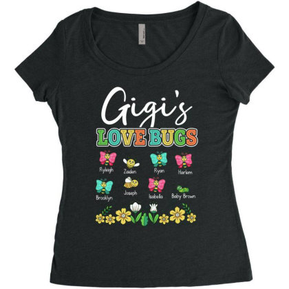 Gigi's Love Bugs Women's Triblend Scoop T-shirt Designed By Hoainv