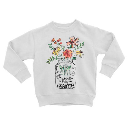 Happiness Is Being A Grammy Toddler Sweatshirt Designed By Hoainv