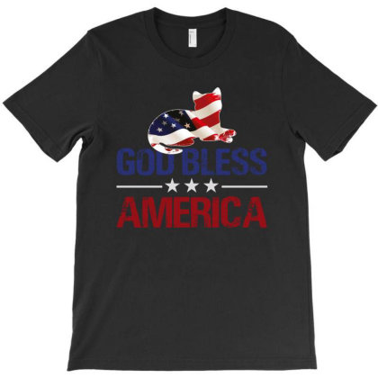 God Bless America T-shirt Designed By Sengul