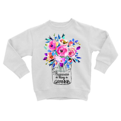 Happiness Is Being A Grandna Toddler Sweatshirt Designed By Hoainv