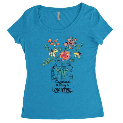 Happiness Is Being A Mammie Women's Triblend Scoop T-shirt Designed By Hoainv