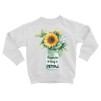 Happiness Is Being A Memaw Toddler Sweatshirt Designed By Hoainv