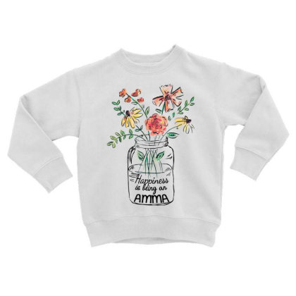 Happiness Is Being An Amma Toddler Sweatshirt Designed By Hoainv