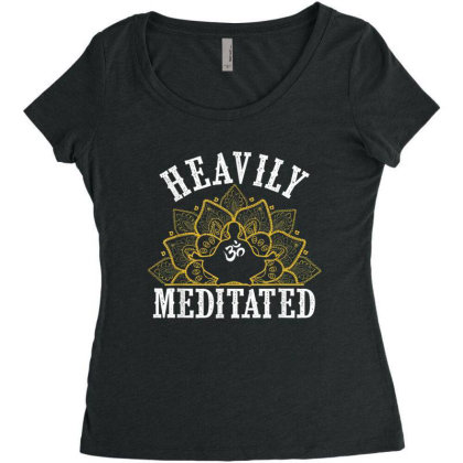 Heavly Meditated Women's Triblend Scoop T-shirt Designed By Hoainv