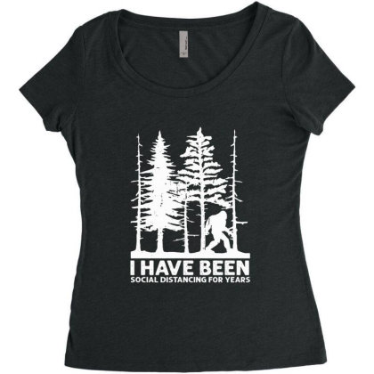 I Have Been Social Distancing For Years Women's Triblend Scoop T-shirt Designed By Hoainv