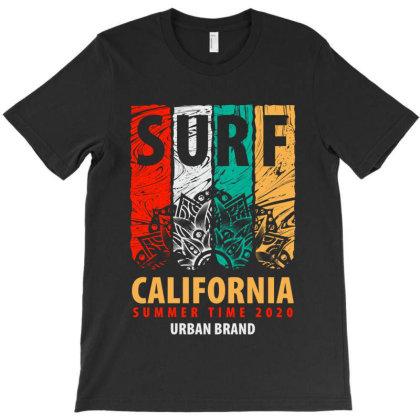 Surf California Summer T-shirt Designed By Designisfun