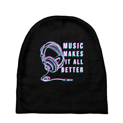 Music Makes It All Better Baby Beanies Designed By Rasyid_indra14