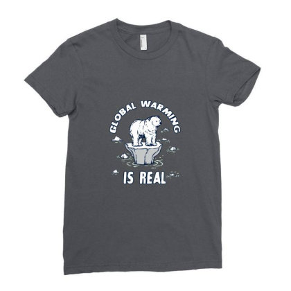 Global Warming Is Real Tee Ladies Fitted T-shirt Designed By Blackstone