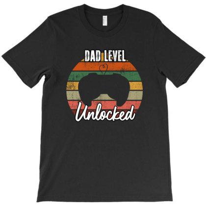 Dad Level Unlocked T-shirt Designed By Sengul