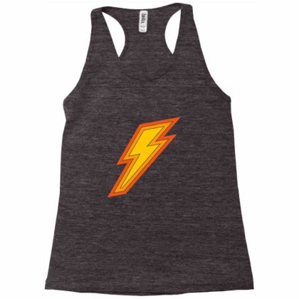 Electricity Power Sign Racerback Tank Designed By Alamy