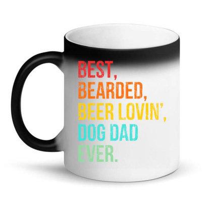 Funny Bearded Dad Bearded Beer Lovin Dog Dad Ever Retro Vintage Magic Mug Designed By Hoainv